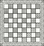 Click for more details of Black Chessboard (blackwork) by DoodleCraft Design