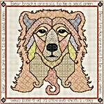 Click for more details of Blackwork Bear (blackwork) by DoodleCraft Design