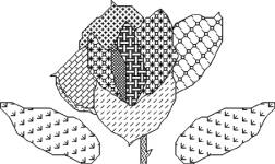 Click for more details of Blackwork Rose (blackwork) by Anne Peden