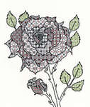 Click for more details of Blackwork Rose (blackwork) by Bothy Threads