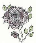 Click for more details of Blackwork Rose (blackwork) by Bothy Threads