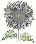 Blackwork Sunflower