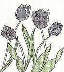 Click for more details of Blackwork Tulips (blackwork) by Bothy Threads