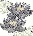 Click for more details of Blackwork Water Lily (blackwork) by Bothy Threads
