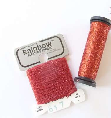 Click for more details of Blending Threads - Kreinik to Glissengloss Rainbow Conversion Chart (miscellaneous) by Anne Peden