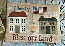 Click for more details of Bless Our Land Sewing Set (cross stitch) by Mani di Donna