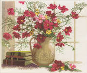 Click for more details of Blooming Cosmos (cross stitch) by RTO