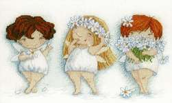 Click for more details of Blooming Daisies (cross stitch) by MP Studios