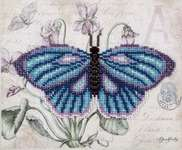 Click for more details of Blue Butterfly (beadwork) by VDV