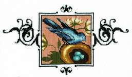 Click for more details of Blue Monarch Flycatcher (cross stitch) by Nora Corbett