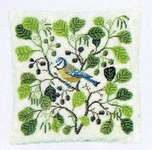 Click for more details of Blue Tit Cushion (cross stitch) by Haandarbejdets Fremme
