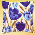 Click for more details of Blue Tulip Cushion Front (tapestry) by Vervaco