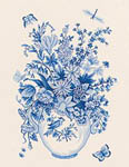 Click for more details of Blue Vase (cross stitch) by Eva Rosenstand
