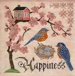 Click for more details of Bluebird of Happiness (cross stitch) by Cottage Garden Samplings