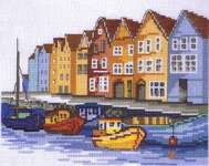 Click for more details of Boats (cross stitch) by Permin of Copenhagen