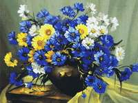 Click for more details of Bouquet of Blue (cross stitch) by Kustom Krafts