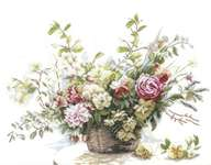 Click for more details of Bouquet of Roses (cross-stitch kit) by Lanarte