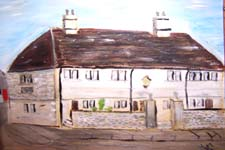 Click for more details of Bradford on Avon Alms Houses (oil on board) by Terry Chivers
