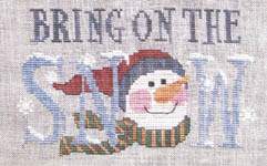Click for more details of Bring on The Snow (cross-stitch pattern) by Waxing Moon Designs