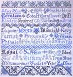 Click for more details of Broderie Bleue  (cross stitch) by Tempting Tangles Designs