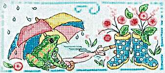 Click for more details of Brollies and Wellies (cross stitch) by Faby Reilly Designs