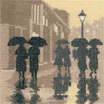 Click for more details of Brollies (cross stitch) by Phil Smith