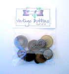 Click for more details of Brown Vintage Buttons x10 (buttons and brads) by Elizabeth Grace