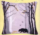 Click for more details of Bruno Cushion Front (tapestry) by Vervaco