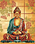 Click for more details of Buddha (cross-stitch kit) by Lanarte