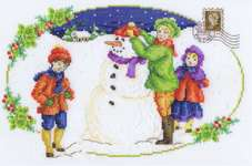 Click for more details of Building a Snowman (cross stitch) by DMC Creative