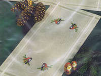 Click for more details of Bullfinches Table Runner (embroidery) by Permin of Copenhagen