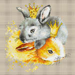 Click for more details of Bunnies (cross stitch) by Luca - S