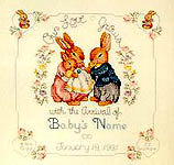 Click for more details of Bunny Birth Sampler (cross-stitch pattern) by Donna Vermillion