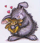 Click for more details of Bunny Luv (stamps) by Stampendous