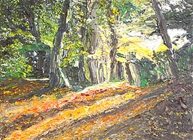 Click for more details of Burnham Beeches (oil on canvas) by Shirley Rothwell
