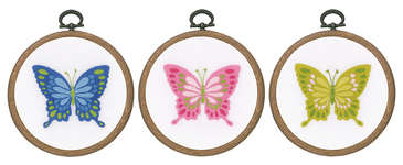 Click for more details of Butterflies (embroidery) by Vervaco