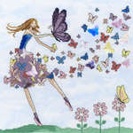 Click for more details of Butterfly Dance (cross stitch) by Bothy Threads