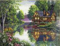 Click for more details of Cabin Fever (cross stitch) by Dimensions