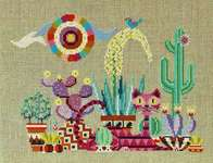 Click for more details of Cactus Cat (cross stitch) by Satsuma Street