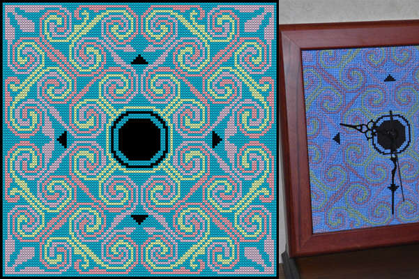 Click for more details of Cadboll Clock (digital downloads pattern) by EolasNanSul