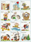 Click for more details of Calendar Creatures (cross stitch) by Bothy Threads