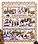 Click for more details of California Sampler (cross-stitch pattern) by Ginger & Spice
