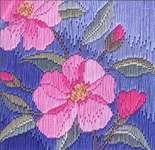 Click for more details of Camelias (long-stitch) by Rose Swalwell