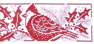 christmas cross stitch chartpatternleaflet cardinal blessings - Free Christmas Cross Stitch Patterns