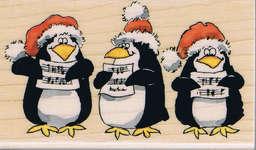 Click for more details of Caroling Penguins (stamps) by Penny Black