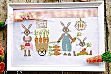 Click for more details of Carrots For Sale (cross stitch) by Madame Chantilly