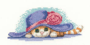 Click for more details of Cat in Hat (cross stitch) by Peter Underhill