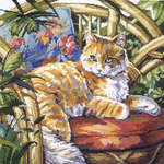 Click for more details of Cat in the Sun (cross-stitch kit) by Janlynn