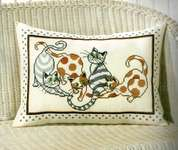 Click for more details of Cat Pillow (cross stitch) by Permin of Copenhagen