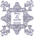 Click for more details of Celtic Anniversary (blackwork) by Classic Embroidery